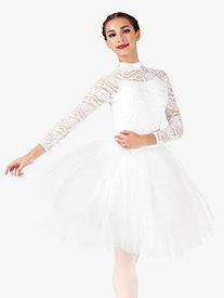 Elisse by Double Platinum - Womens Performance Lace Romantic Tutu Dress