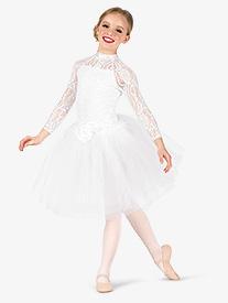 Elisse by Double Platinum - Girls Performance Lace Romantic Tutu Dress