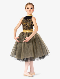 Elisse by Double Platinum - Girls Performance Two-Tone Romantic Tutu Dress