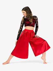 Elisse by Double Platinum - Womens Lace & Satin 2-Piece Dance Costume Set
