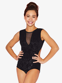 Kandi Kouture - Girls Embossed Velvet Tank Leotard