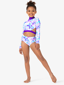 Ella - Girls Pastel Flowers Dance Briefs