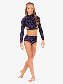 Ella - Girls Burnout Velvet Jazz Cut Dance Briefs