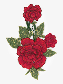 Go Girl - DIY Rosebud Embroidered Applique