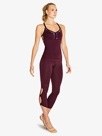 Bloch - Womens Keyhole 7/8 Dance Leggings
