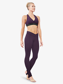 Bloch - Womens V-Front Stirrup Leggings
