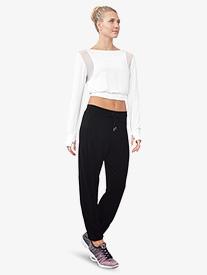 Bloch - Womens Mesh Panel Pull-On Dance Sweatpants