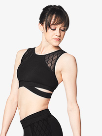 Bloch - Womens Diamond Mesh Tank Dance Bra Top