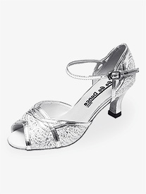 "Go Go - Womens 2.5"" Heel Silver Glitter Ballroom Shoes"
