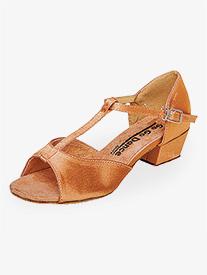 "Go Go - Girls 1.5"" Heel T-Strap Ballroom Dance Shoes"
