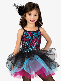 Gracie - Girls Performance Three-Tone Camisole Tutu Dress