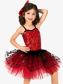 Gracie - Girls Performance Two-Tone Sequin Dot Tutu Dress