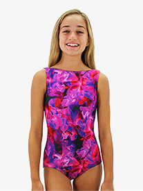 Hailey Dancewear - Girls Print Boat Neck Tank Leotard