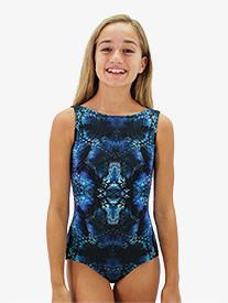 "Hailey Dancewear - Girls ""In Flight"" Print Boat Neck Tank Leotard"
