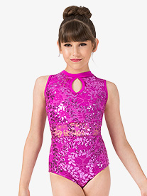 Ingenue - Girls Performance Sequin Lace Tank Leotard