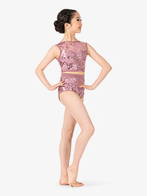 Ingenue - Girls Performance Sequin Lace Briefs