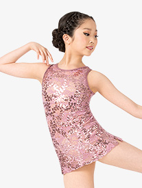 Ingenue - Girls Performance Sequin Lace Tank Dress