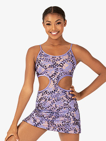Ingenue - Womens Performance Sequin Lace Side Cutout Camisole Dress