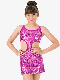 Ingenue - Girls Performance Sequin Lace Side Cutout Camisole Dress