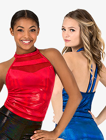 Ingenue - Womens Team Velvet Foil Team Halter Top