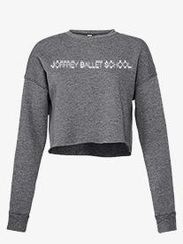 Joffrey Ballet School - Womens Cropped Fleece Dance Sweater