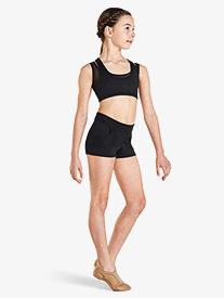 Kaia - Girls Mesh Insert Dance Shorts