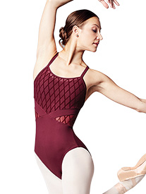 Bloch - Womens Diamond Flock Mesh Camisole Leotard