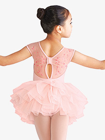 Mirella - Girls Embroidered Floral Mesh Ballet Tutu Dress