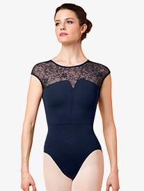 "Mirella - Womens ""Juliet"" Lace Short Sleeve Leotard"