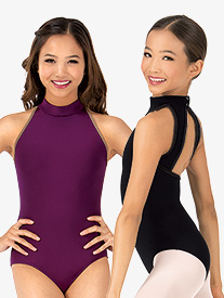 "Mariia - Girls ""Karolina"" Mock Neck Tank Dance Leotard"