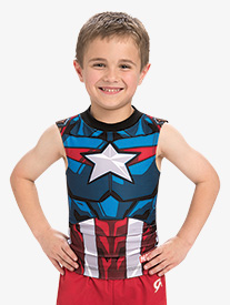 GK Elite - Boys/Mens Marvel Captain America Compression Shirt