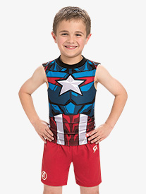 GK Elite - Boys/Mens Marvel Red Avengers Shorts
