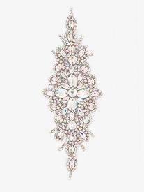 Double Platinum - Hot Fix Crystal AB Rhinestone Applique