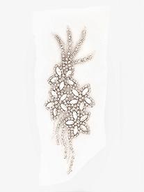 "Double Platinum - Sew On ""Bloom"" Crystal Rhinestone Applique"
