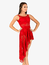 Double Platinum - Adult Emballe Long Lace Overdress