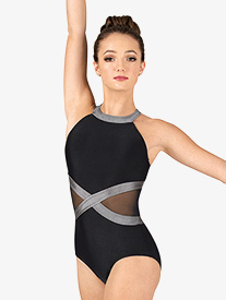 Double Platinum - Womens Performance Side Mesh Tank Leotard