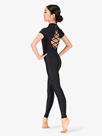 Double Platinum - Girls Performance Strappy Short Sleeve Unitard