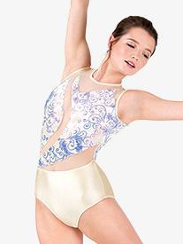 "Double Platinum - Womens Performance ""Aria"" Velvet Tank Leotard"