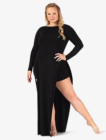 Double Platinum - Womens Plus Size Performance Boat Neck Tunic Dress