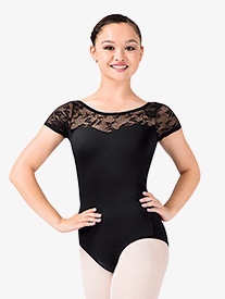 Natalie - Adult Short Sleeve Lace Leotard