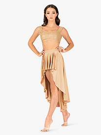 Natalie - Womens Lyrical Flow Collection High-Low Skirt