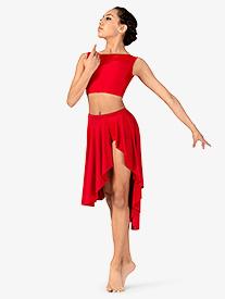Natalie - Womens Lyrical Flow Collection Side Slit Skirt