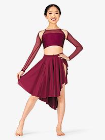 Natalie - Girls Lyrical Flow Collection Side Slit Skirt