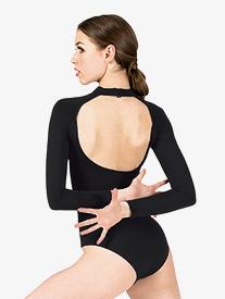 Natalie Active - Womens Compression Long Sleeve Leotard