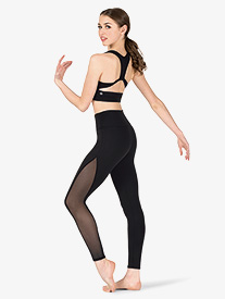 Natalie Active - Womens Compression Side Mesh Workout Leggings