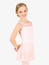 Natalie Couture - Girls Ribbon Mesh Tank Ballet Dress