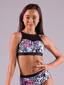 "Oh La La Dancewear - Girls Secret Garden ""The Reagan"" Dance Bra Top"