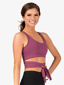Natalie Active - Womens Wrap Around Dance Tank Crop Top
