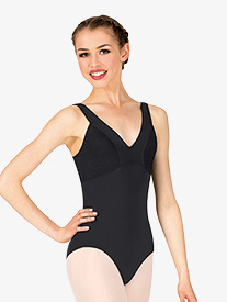 Natalie Couture - Womens V-Front Tank Leotard