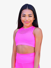 Kandi Kouture - Girls Laser Cut Tank Dance Crop Top